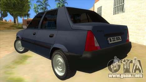 Dacia Solenza V2 para GTA San Andreas vista posterior izquierda