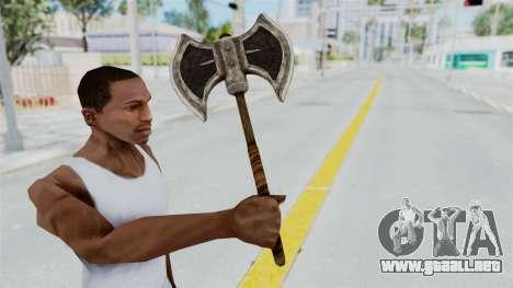 Skyrim Iron Battle Axe para GTA San Andreas tercera pantalla