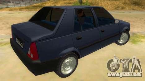 Dacia Solenza V2 para la visión correcta GTA San Andreas