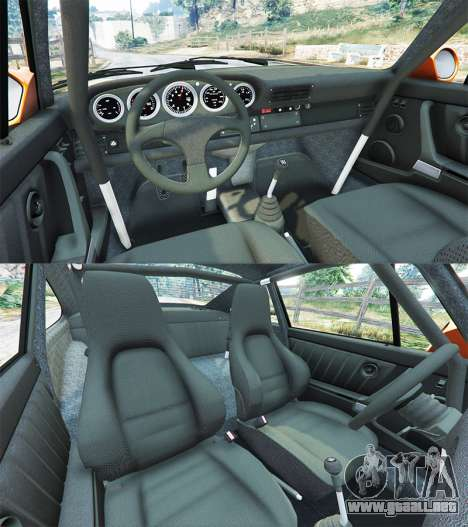 GTA 5 Ruf CTR v1.2 vista lateral trasera derecha