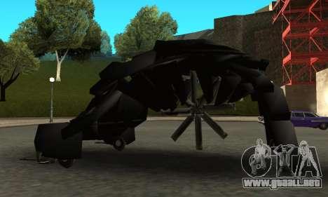 The Dark Knight Rises BAT v1 para GTA San Andreas left