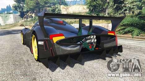 GTA 5 Pagani Zonda R vista lateral izquierda trasera