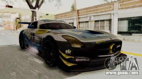 Mercedes-Benz SLS AMG GT3 PJ3 para GTA San Andreas vista hacia atrás