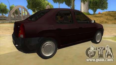 Dacia Logan V2 Final para la visión correcta GTA San Andreas