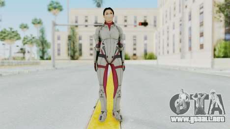 ME 1 Ashley Williams Default White Armor para GTA San Andreas segunda pantalla