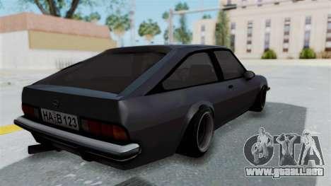 Opel Manta B1 CC para GTA San Andreas left