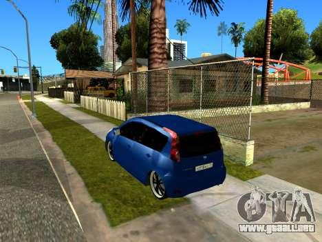 Nissan Note KURMIN StreetRacer para GTA San Andreas vista hacia atrás