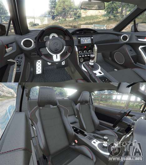 GTA 5 Toyota GT-86 Rocket Bunny v1.6 vista trasera