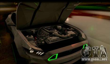 Ford Mustang RTRX Coupe para la visión correcta GTA San Andreas