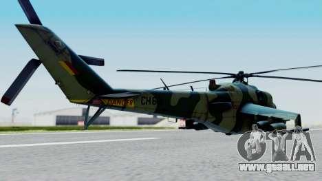 Mi-24V Sri-Lanka Air Force CH621 para GTA San Andreas left