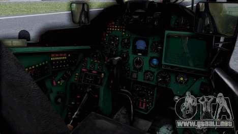 Mi-24V Russian Air Force 46 para la visión correcta GTA San Andreas