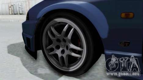 Nissan Skyline R33 GT-R V-Spec 1995 para GTA San Andreas vista posterior izquierda