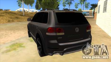 Volkswagen Touareg HQ para GTA San Andreas vista posterior izquierda