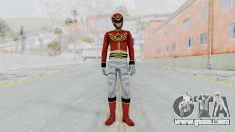 Power Rangers Megaforce - Red para GTA San Andreas segunda pantalla
