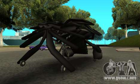 The Dark Knight Rises BAT v1 para la visión correcta GTA San Andreas