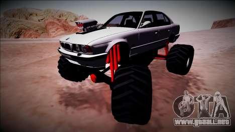 BMW M5 E34 Monster Truck para la vista superior GTA San Andreas