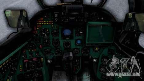 Mi-24V Sri-Lanka Air Force CH621 para GTA San Andreas vista hacia atrás