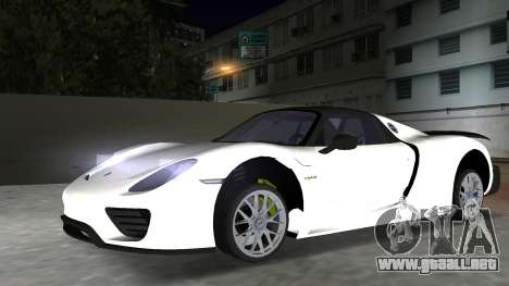 2016 Porsche 918 Spyder Weissach Package para GTA Vice City