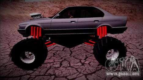 BMW M5 E34 Monster Truck para GTA San Andreas left