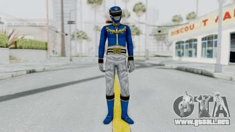 Power Rangers Megaforce - Blue para GTA San Andreas segunda pantalla