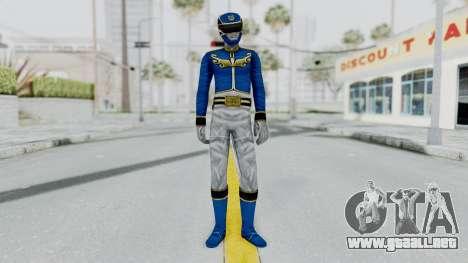 Power Rangers Megaforce - Blue para GTA San Andreas segunda pantalla