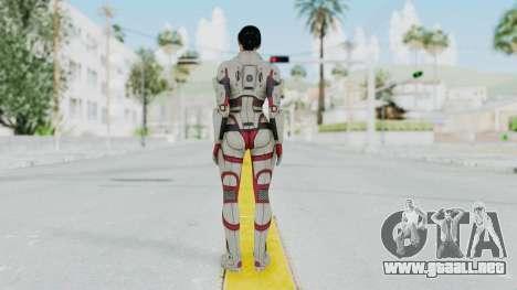 ME 1 Ashley Williams Default White Armor para GTA San Andreas tercera pantalla
