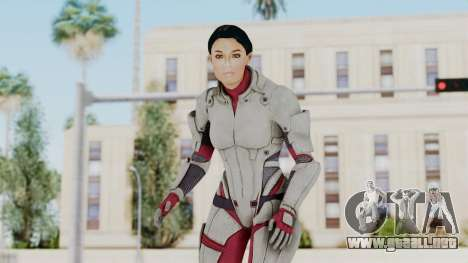 ME 1 Ashley Williams Default White Armor para GTA San Andreas