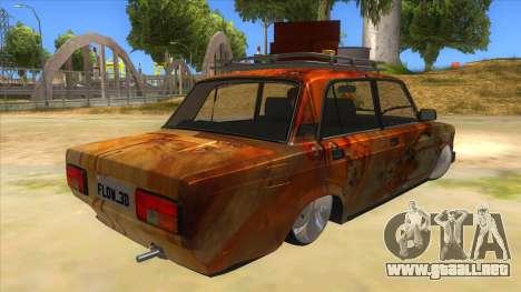 VAZ 2107 Rusty Gringo para la visión correcta GTA San Andreas