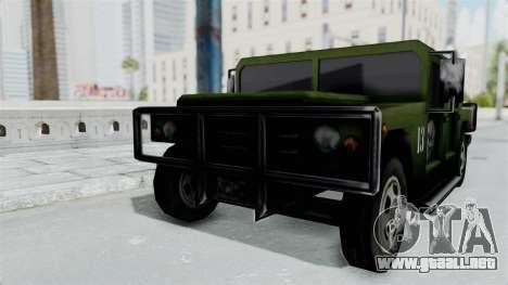 Patriot from Manhunt 2 para GTA San Andreas vista posterior izquierda