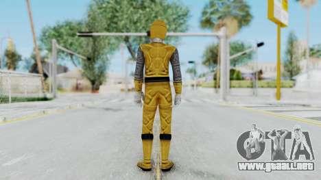 Power Rangers Ninja Storm - Yellow para GTA San Andreas tercera pantalla