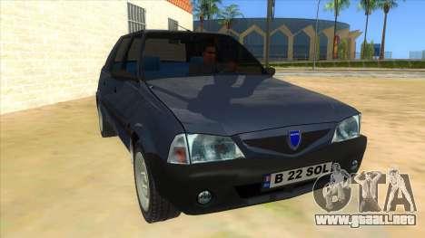 Dacia Solenza V2 para GTA San Andreas vista hacia atrás