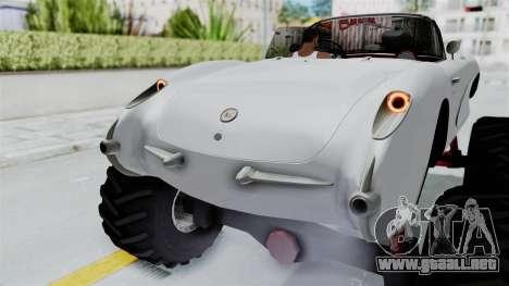 Chevrolet Corvette C1 1962 Monster Truck para vista inferior GTA San Andreas