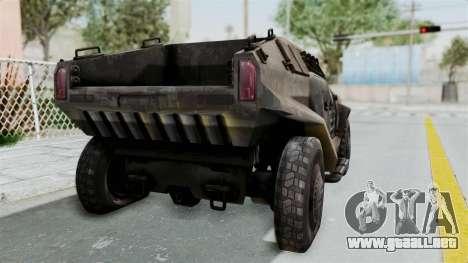 PITBULL from CoD Advanced Warfare para GTA San Andreas vista posterior izquierda