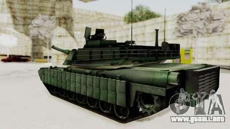 M1A2 Abrams Woodland Croatian para GTA San Andreas left
