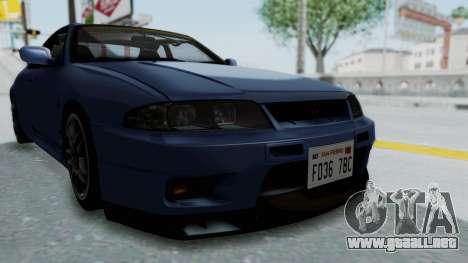 Nissan Skyline R33 GT-R V-Spec 1995 para vista lateral GTA San Andreas