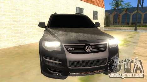 Volkswagen Touareg HQ para GTA San Andreas vista hacia atrás