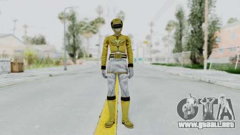 Power Rangers Megaforce - Yellow para GTA San Andreas segunda pantalla