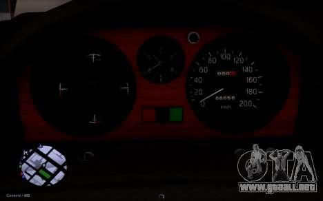 GAS de 31029 Volga para GTA San Andreas vista hacia atrás