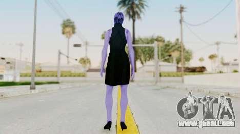 Mass Effect 3 Aria TLoak Gunn Dress para GTA San Andreas tercera pantalla