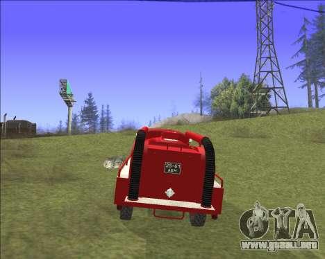 GAZ 63 de Bomberos para visión interna GTA San Andreas