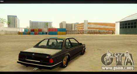 BMW M635 CSi (E24) para la vista superior GTA San Andreas