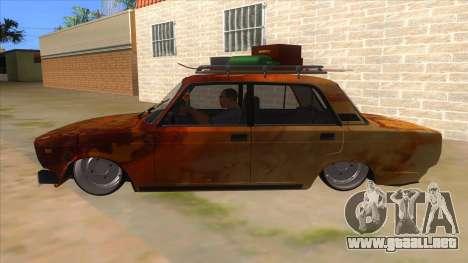 VAZ 2107 Rusty Gringo para GTA San Andreas left
