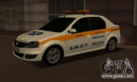 Renault Logan Security Service para GTA San Andreas