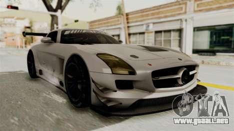 Mercedes-Benz SLS AMG GT3 PJ3 para GTA San Andreas vista posterior izquierda