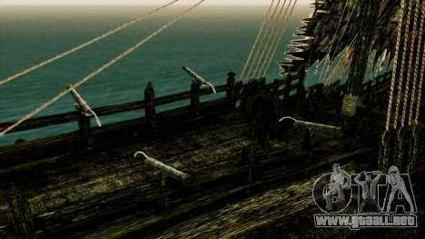Flying Dutchman 3D para GTA San Andreas vista hacia atrás