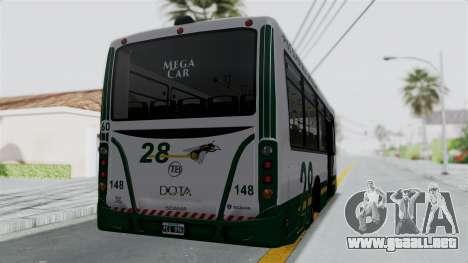 TodoBus Pompeya II Scania K310 Linea 28 Trailer para GTA San Andreas left