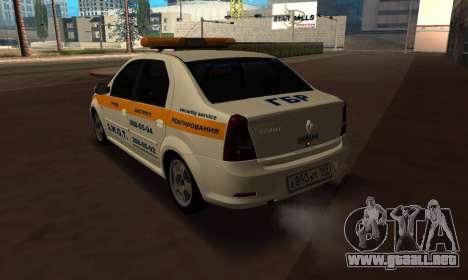 Renault Logan Security Service para GTA San Andreas left