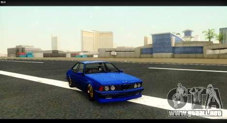 BMW M635 CSi (E24) para GTA San Andreas vista hacia atrás