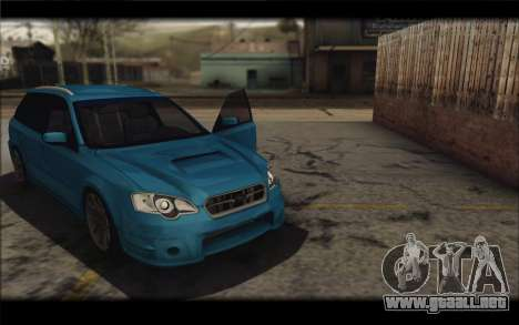 Subaru Legacy STi Wagon 2008 para la visión correcta GTA San Andreas