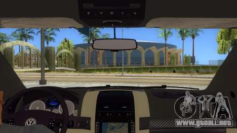 Volkswagen Touareg HQ para visión interna GTA San Andreas